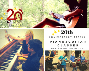 Anniversary Special – Small Group Guitar or Piano Class for Beginners