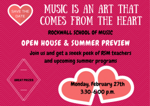 RSM Open House and Summer Preview