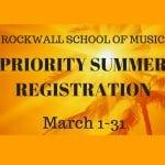 Summer Priority Registration