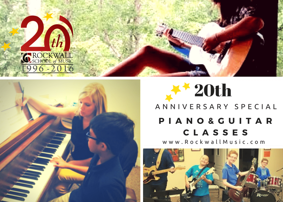 20th Anniversary Piano & Guitar Lessons